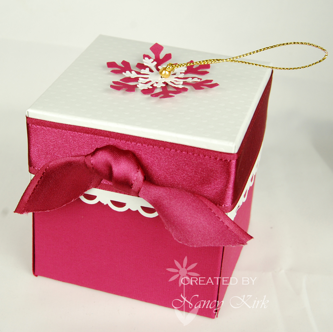 The box was made with SU textured Pomegranate paper and Bazzill White ...